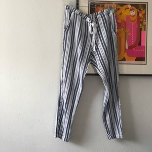 Striped linen style beach pants